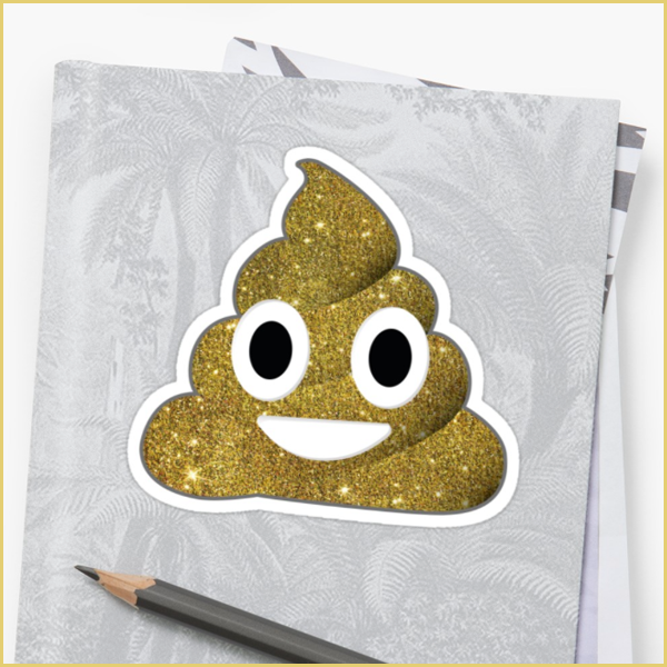 roll it in glitter — sticker  get it here:  redbubble