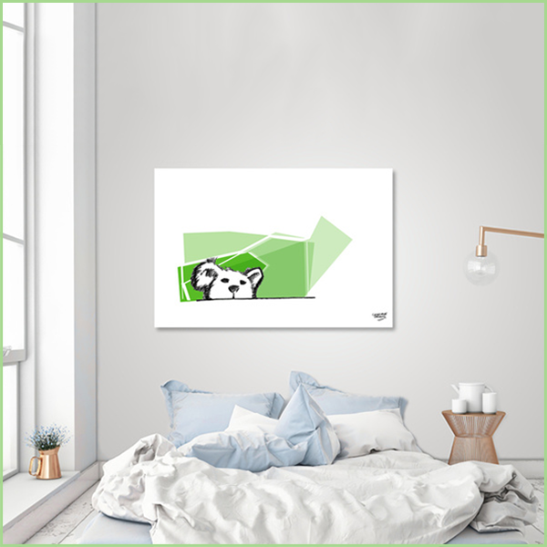 teddy bear — acrylic glass print  get it here:  curioos