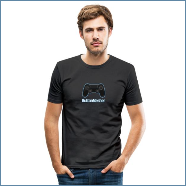 button masher — t-shirt  get it here:  spreadshirt