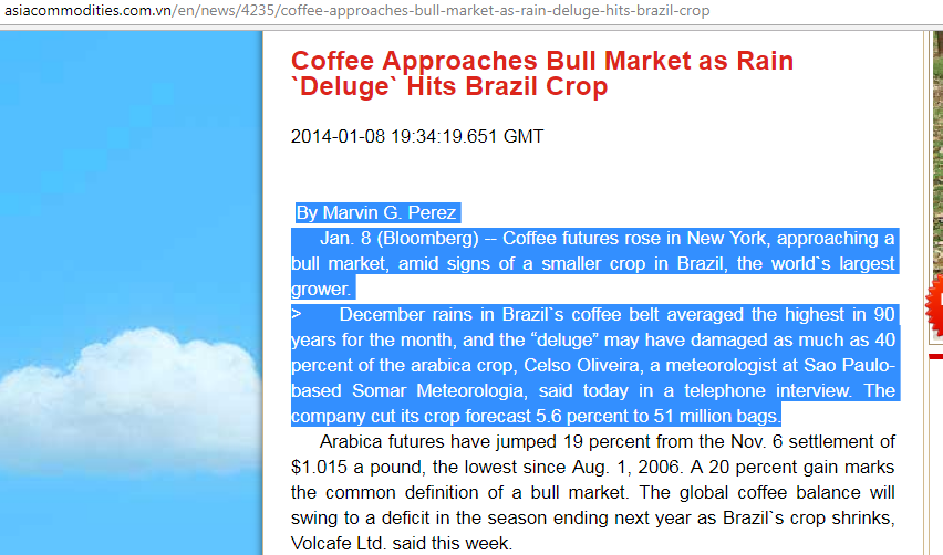 Ursprungsartikeln går inte att finna på Bloomberg vad jag kan se, men andra har kopierat den på sina hemsidor.