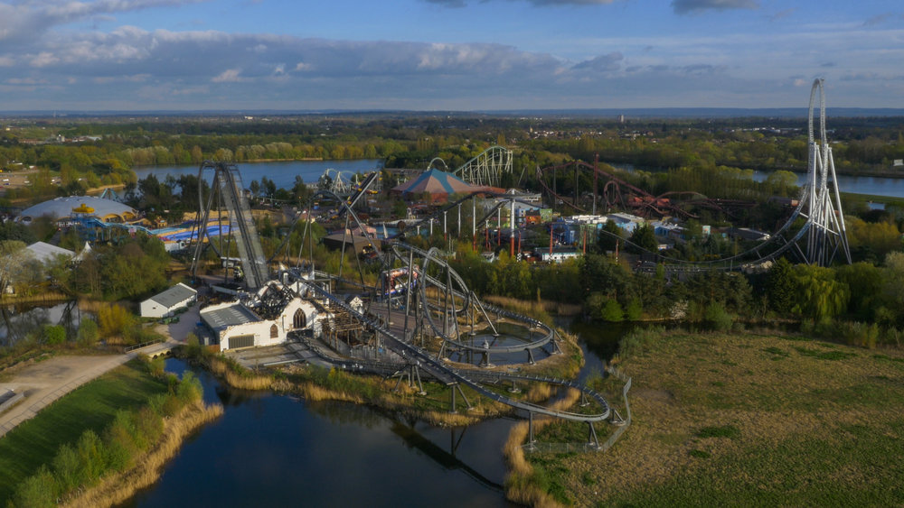 Thorpe Park Resort drone