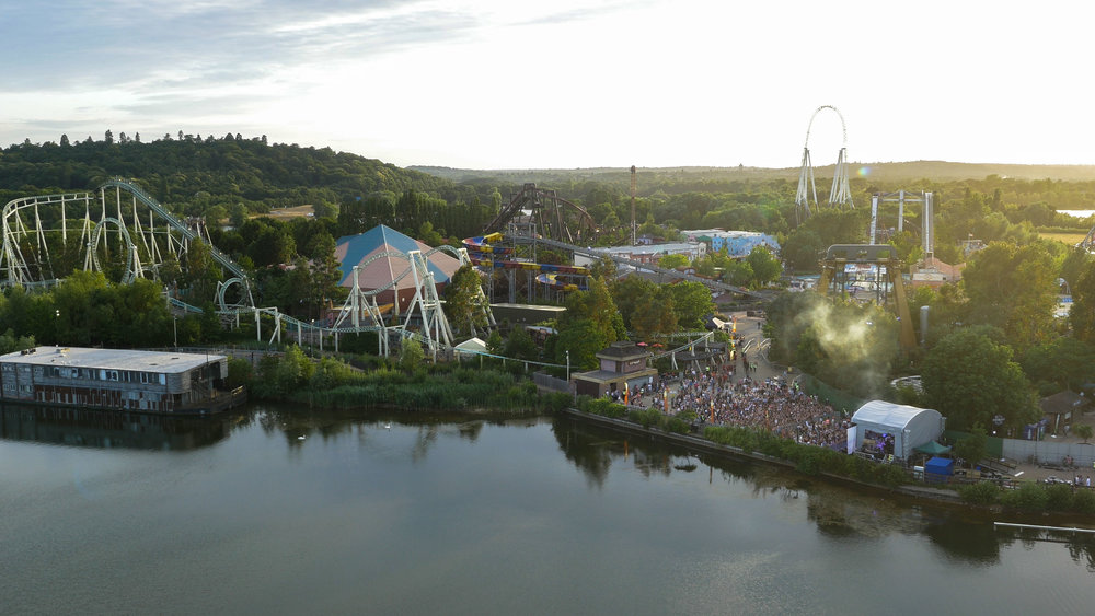 The Vamps Thorpe Park UK Drone