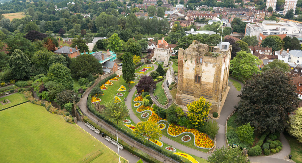 Guildford Castle Drone