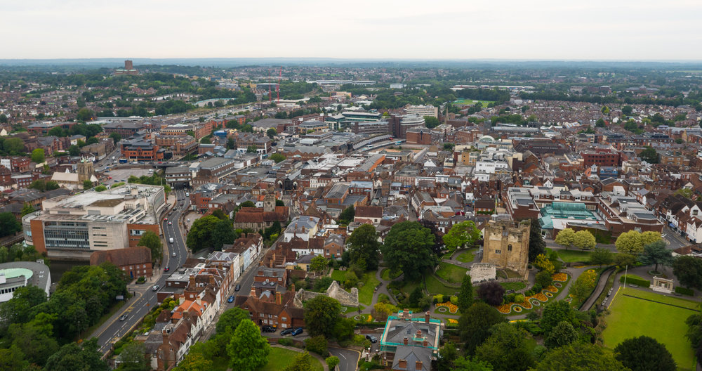 Guildford by Drone