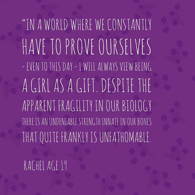 On this #InternationalDayOfTheGirlChild we asked the girls in our circle what it felt like or meant to them to be a girl and we're kicking off with these quotes from Rachel & Madison 💜  How do your daughters feel about being a girl? ⠀⠀⠀⠀⠀⠀⠀⠀⠀ #GirlsLikeYou #BlackGirlMagic #GirlsRunTheWorld #InternationalDayOfTheGirl #DayOfTheGirl #GirlChild