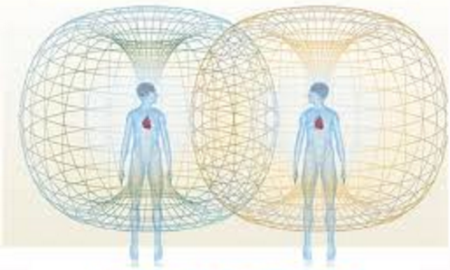 The heart radiates an electromagnetic field, affecting each other's mood, attitude and feelings   http://www.sageacademyofsoundenergy.com/what-is-sonotherapy–sound-healing.html