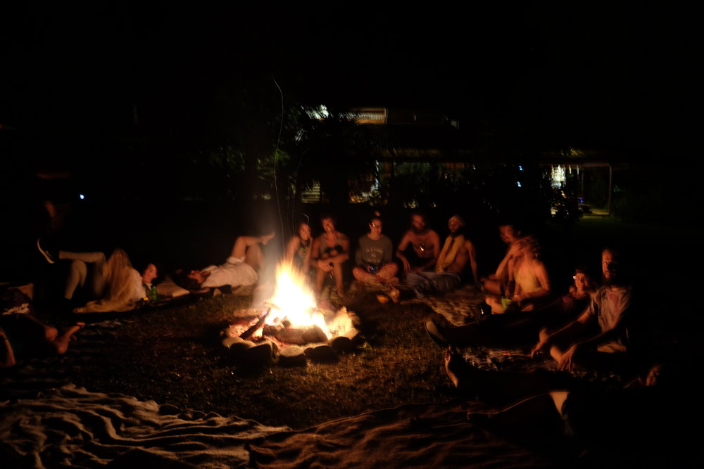 Nightly fires on the main lawn - From chilling to dancing to silence under the stars, everyone loved unwinding by the fire!