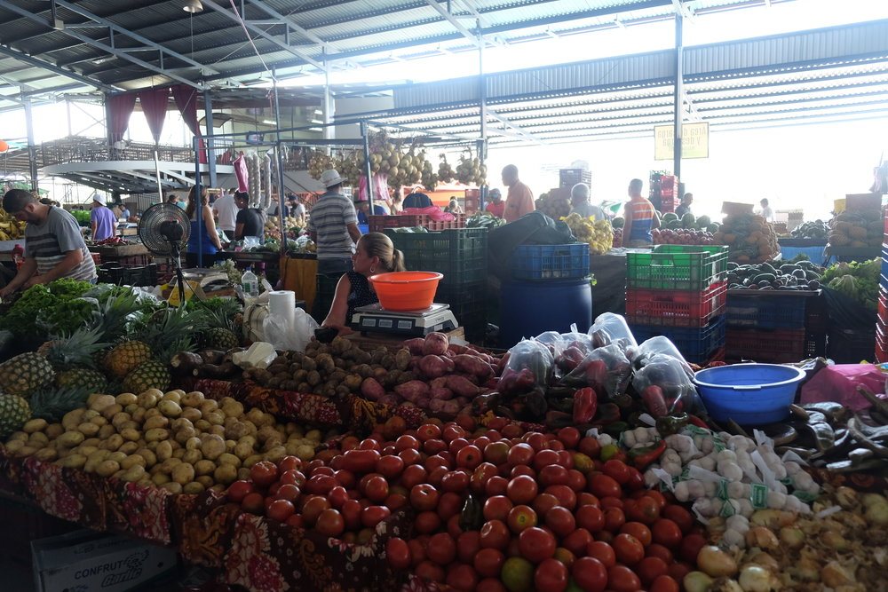 Fruit as far as the eye can see on the San Isidro Market Excursion!