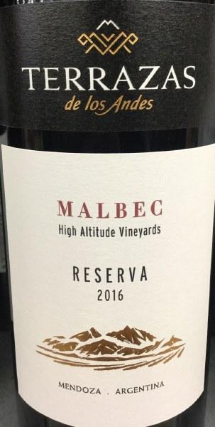 Terrazas Reserva Malbec Mendoza Argentina Bottlelegger
