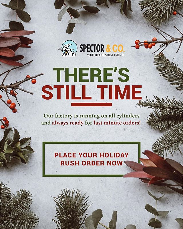 The holidays may be very near but at @spectorandco we are checking our list twice and running on all cylinders. Send us your last minute rush orders so we can get it to you just in time! Happy Holidays! #Spectorandco #promo #promotional #rushorder #holiday #julesscheckassociates