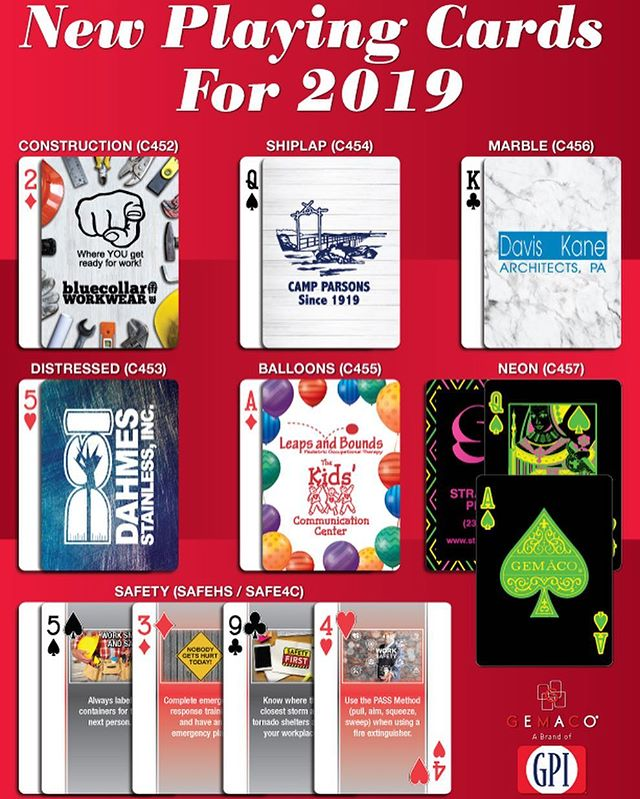 Some new and exciting things are happening at #Gemaco for 2019! From NEW playing cards such as the Baronet cards to great self-promo specials on poker chips, we have a great selection to help you promote your business. Contact your local salesperson for more information. #baronetcards #playingcards #pokerchips #julesscheckassociates #promo #promotional #promotionalproducts #marketing #advertising
