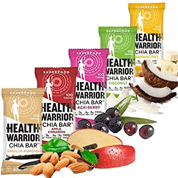 "USE CODE ""rvafitfoodie30"" for 30% OFF   Chia bars filled with all the good superfoods & none of the bad. Only 100 calories per bar, they make for a perfect pick-me-up or on-the-go snack."