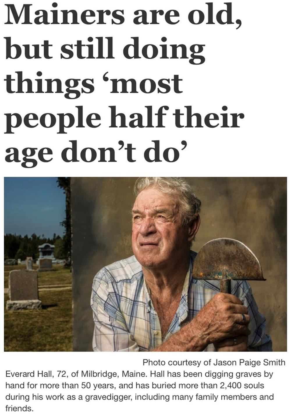 Bangor Daily News Story,  The Oldest State