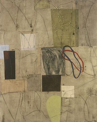 "N, oil, mixed media on canvas, 78"" x 62"", 2002"