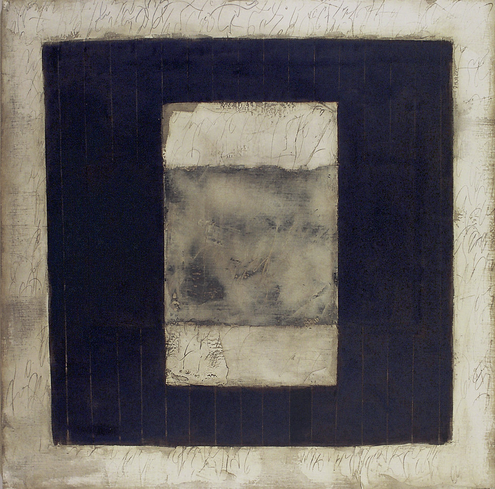 Stein's Diary 11 74x74 inches 188x188cm oil, gesso on canvas 1994