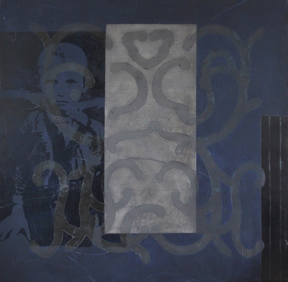 Stein's Diary 9 74 x74 inches 188x188cm oil, graphite, gesso, medium on canvas 1995