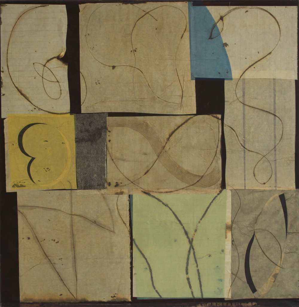 Epigram 4 65x64 inches 163x161 cm oil, gel, paper on canvas 2006