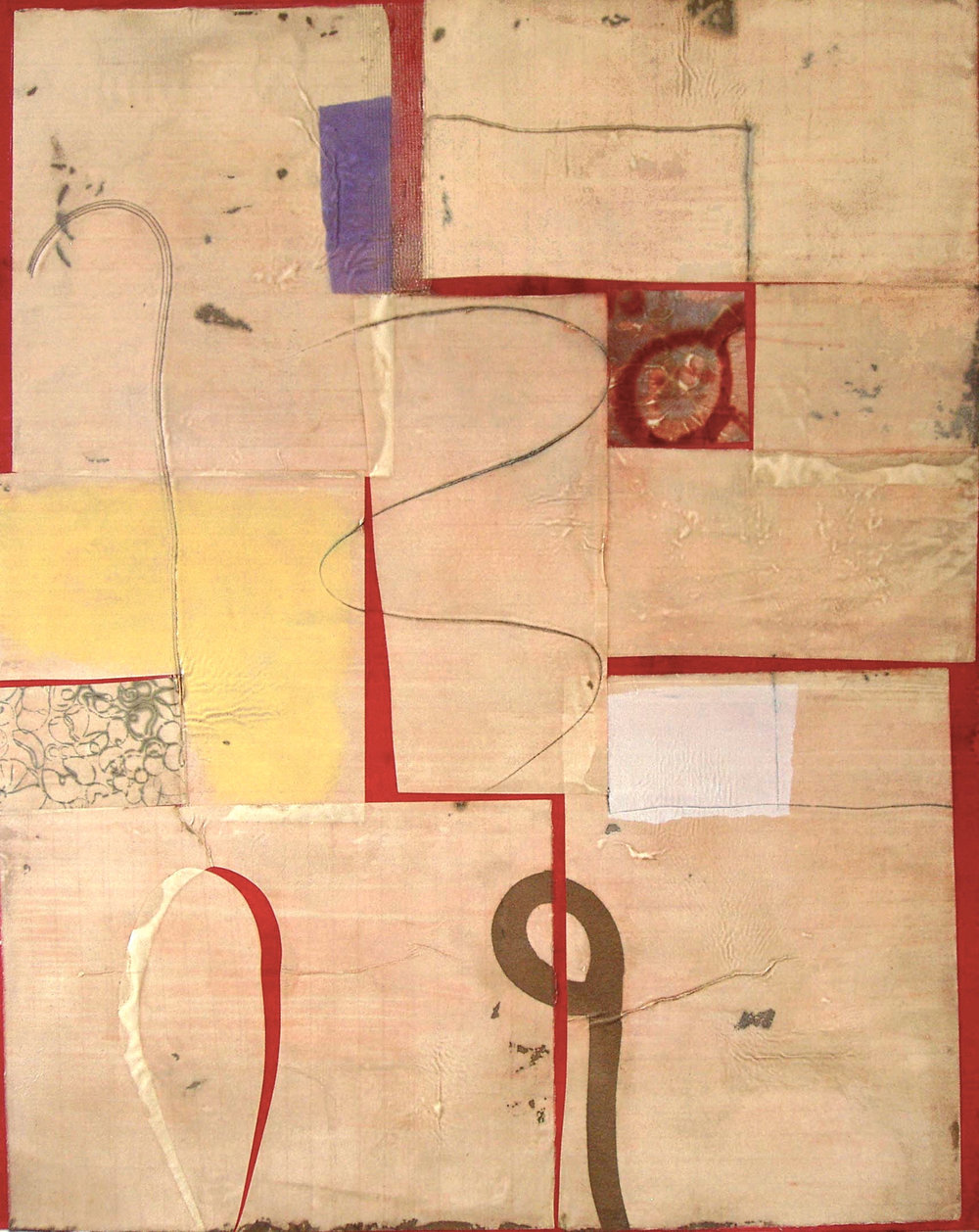 Epigram18 oil, gel, paper on canvas 60x48 inches 152x122 cm 2014