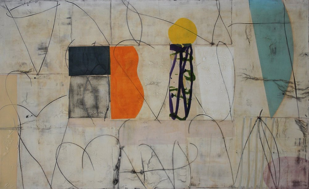 July 12 48x78 inches 122x198cm oil, mixed media on canvas 2015