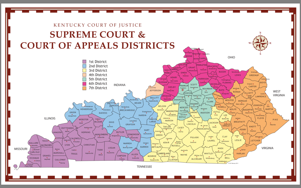 Justice Venters resides in the 3rd Supreme Court District. Donald J. Trump won Pulaski County with 81.6% in the 2016 Presidential race.