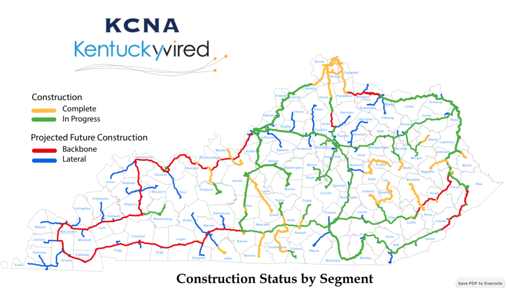 Kentucky Wired Project Updated as of January 9, 2019.