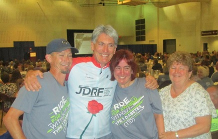Our family Ride Team at the JDRF 2015 La Crosse Ride to Cure Diabetes.