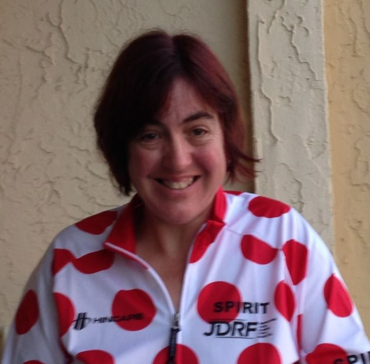 "More about Melissa Here's Melissa sporting her JDRF Spirit Jersey. She was awarded this jersey at the 2016 Amelia Island Ride. She  was selected to receive the JDRF Spirit Jersey for exemplifying the ""Spirit"" of the ride."