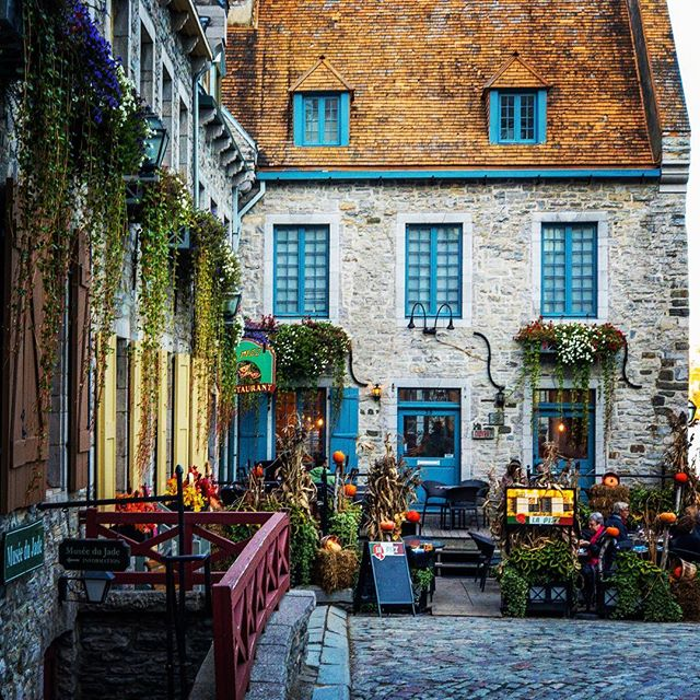 What better way to cap off our road trip than a visit to the charming village of Old Québec City! ⚜️ Some of these gorgeous buildings date back to the 1600s 😱