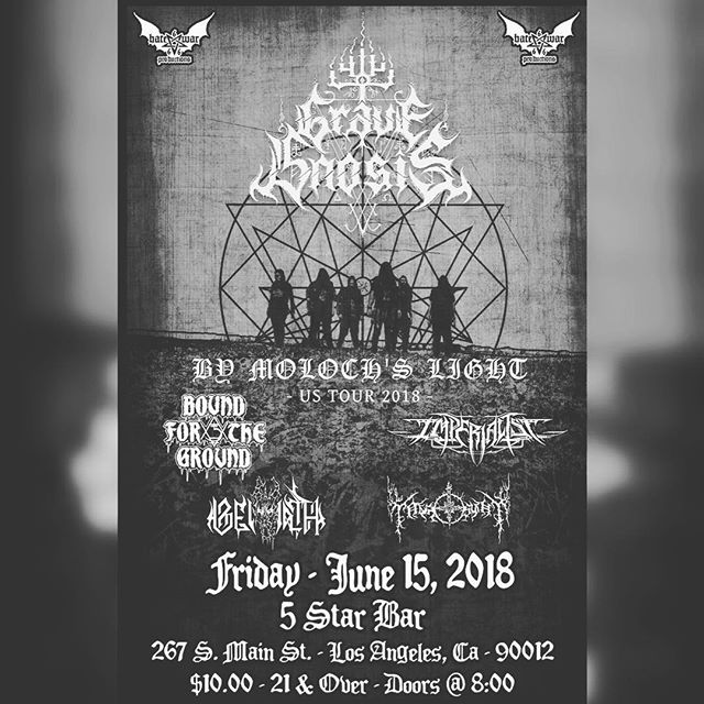 Tonight in downtown LA. Hope to see many of you there! #metal #blackmetal #heavymetal #deathmetal #losangeles #tour #la #downtown