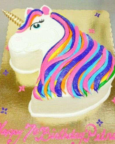 Cut-out Unicorn Cake