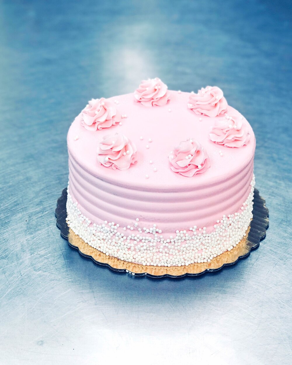 Pink & Pearls Cake