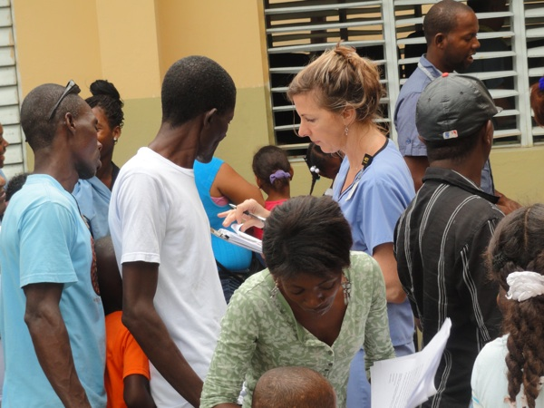 International doctors visit with Haitian patients in the Dominican Republic, Nov. 2017.