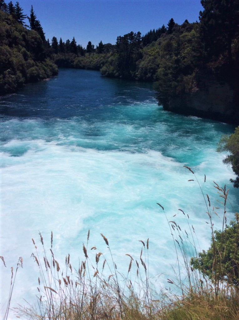 Walking alongside Huka Falls