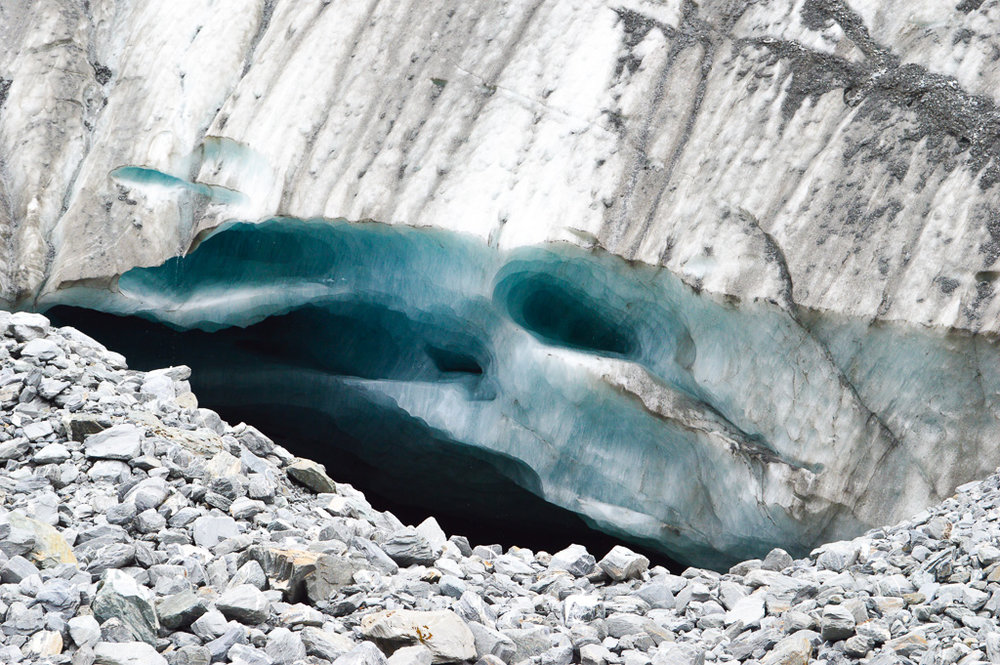 Close up of the Franz Josef Glacier
