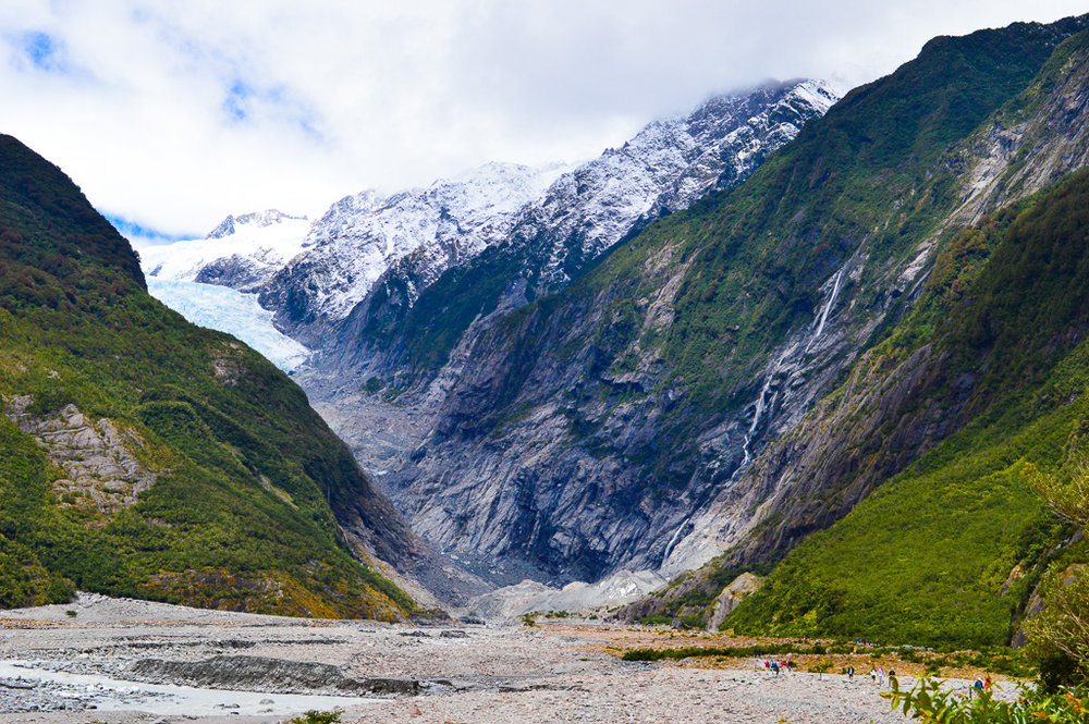 The view at the end of the Franz Josef Glacier boardwalk