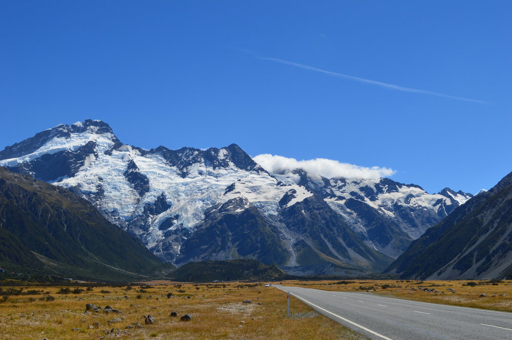 Driving to Mount Cook