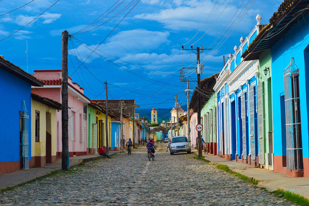 The colourful cobbled streets of Trinidad