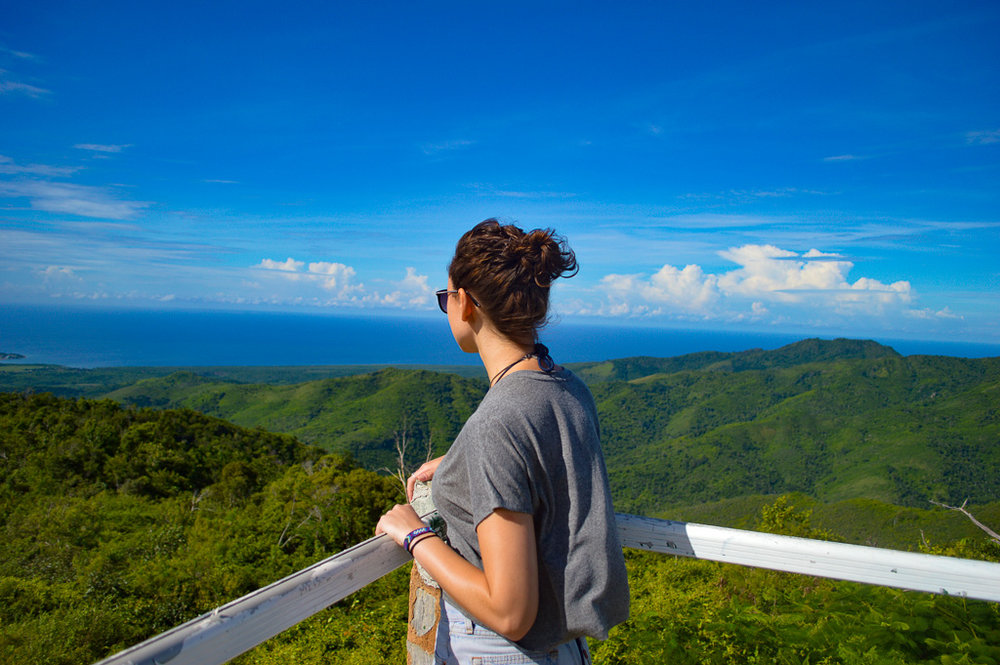 View over the mountains from a mirador in Trinidad