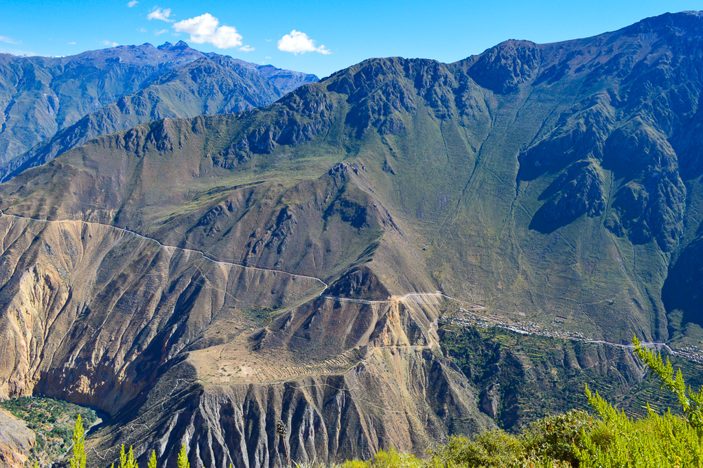 Steep colca canyon mountain walking track best hike in peru