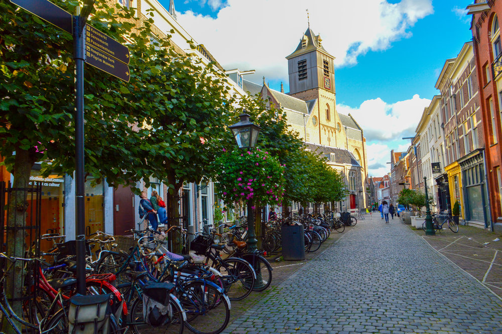 bicycles and cobbled streets leiden exploring