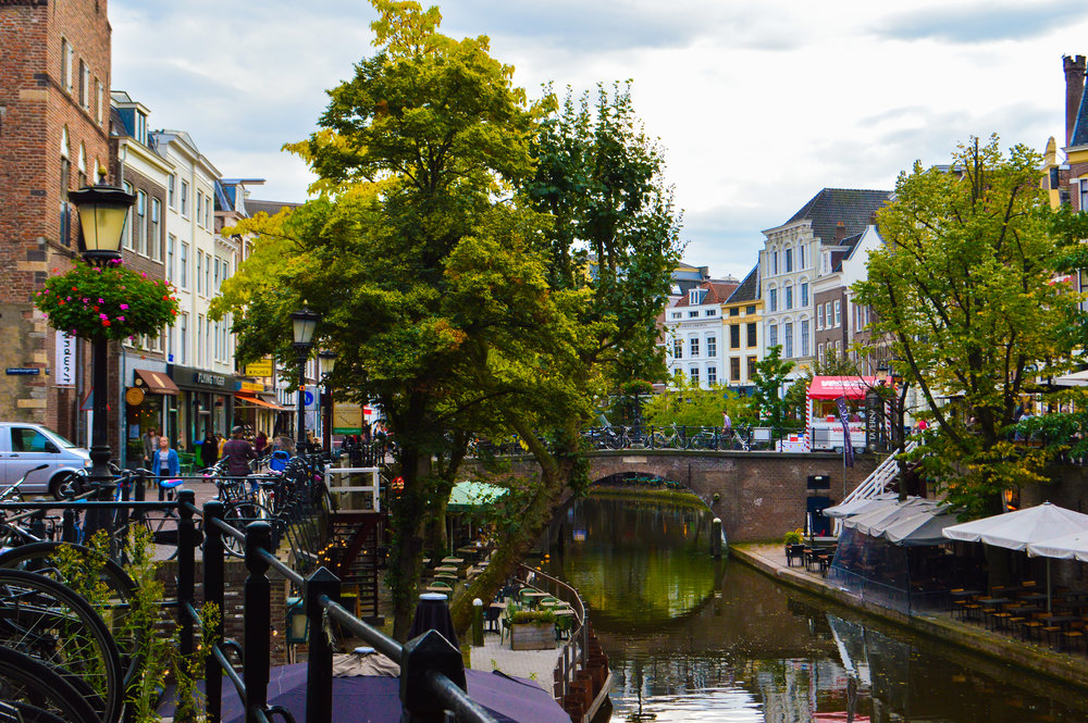 Utrecht river city centre with canals