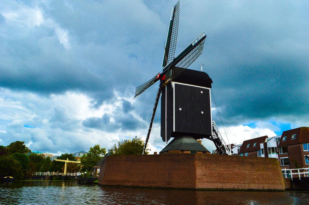 Historic Leiden windmill