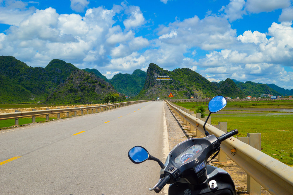 Driving to the world famous cave complexes, Phong Nha-Ke Bang National Park