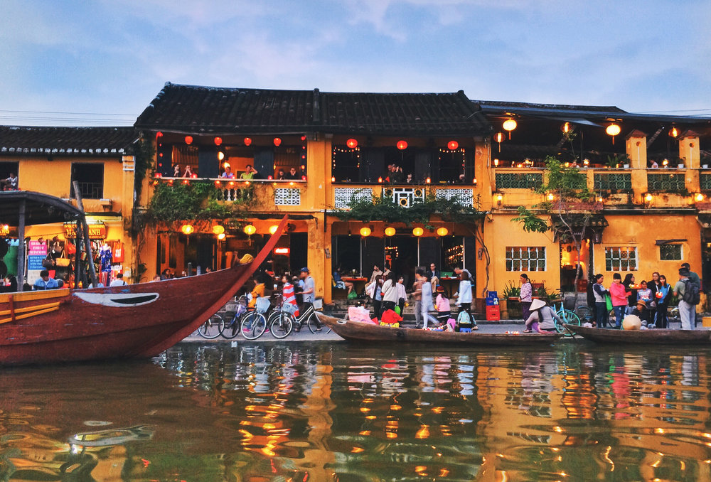 The beautiful and lively ancient port town of Hoi An