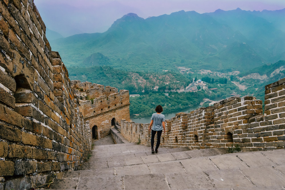 Ultimate goals - a section of the majestic Great Wall of China all to myself!