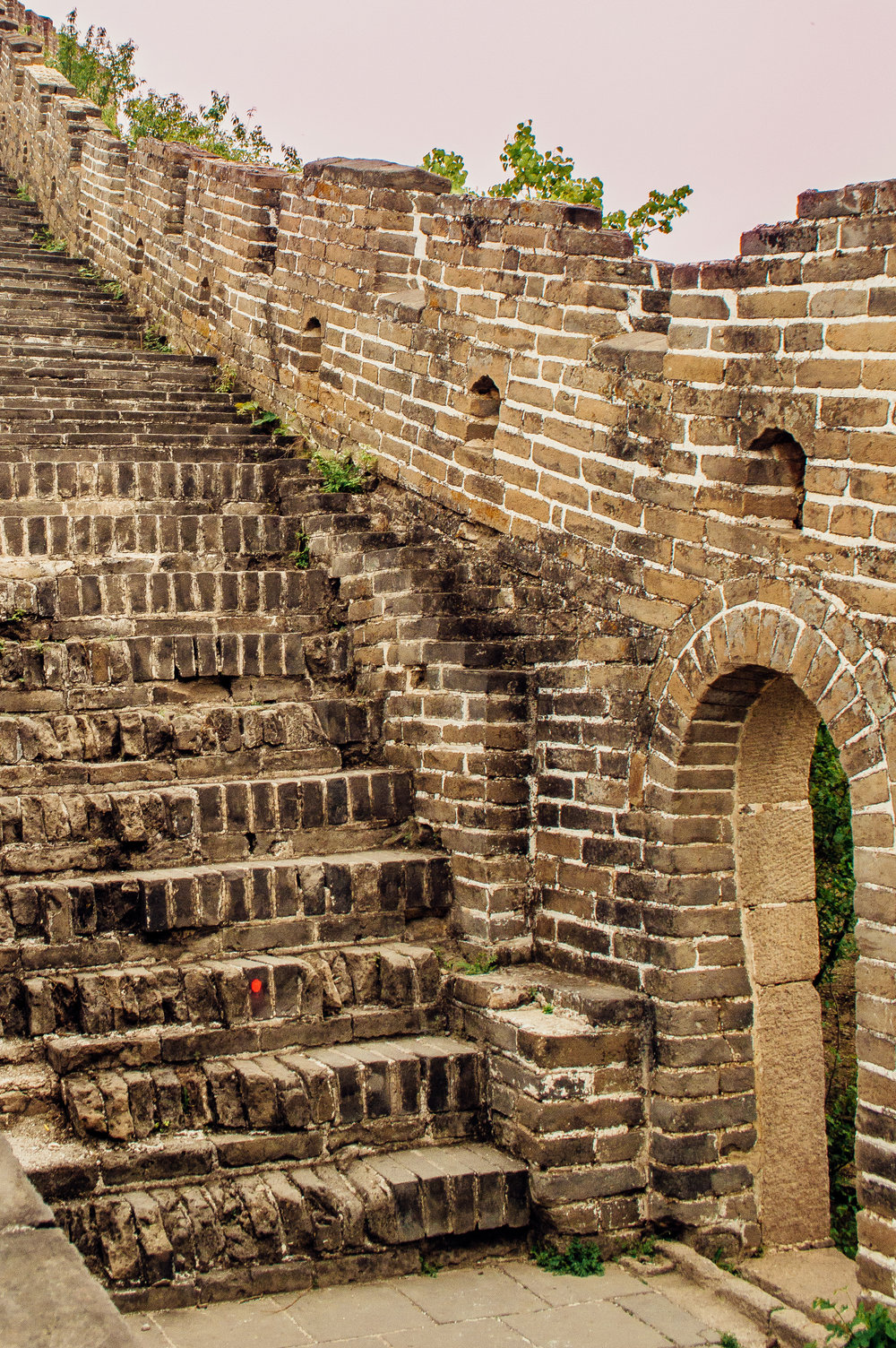 Although you probably can't tell, these crumbling steps are pretty much vertical. If you have a mobility issue, it may be best to look at the Mutianyu section with the cable car.