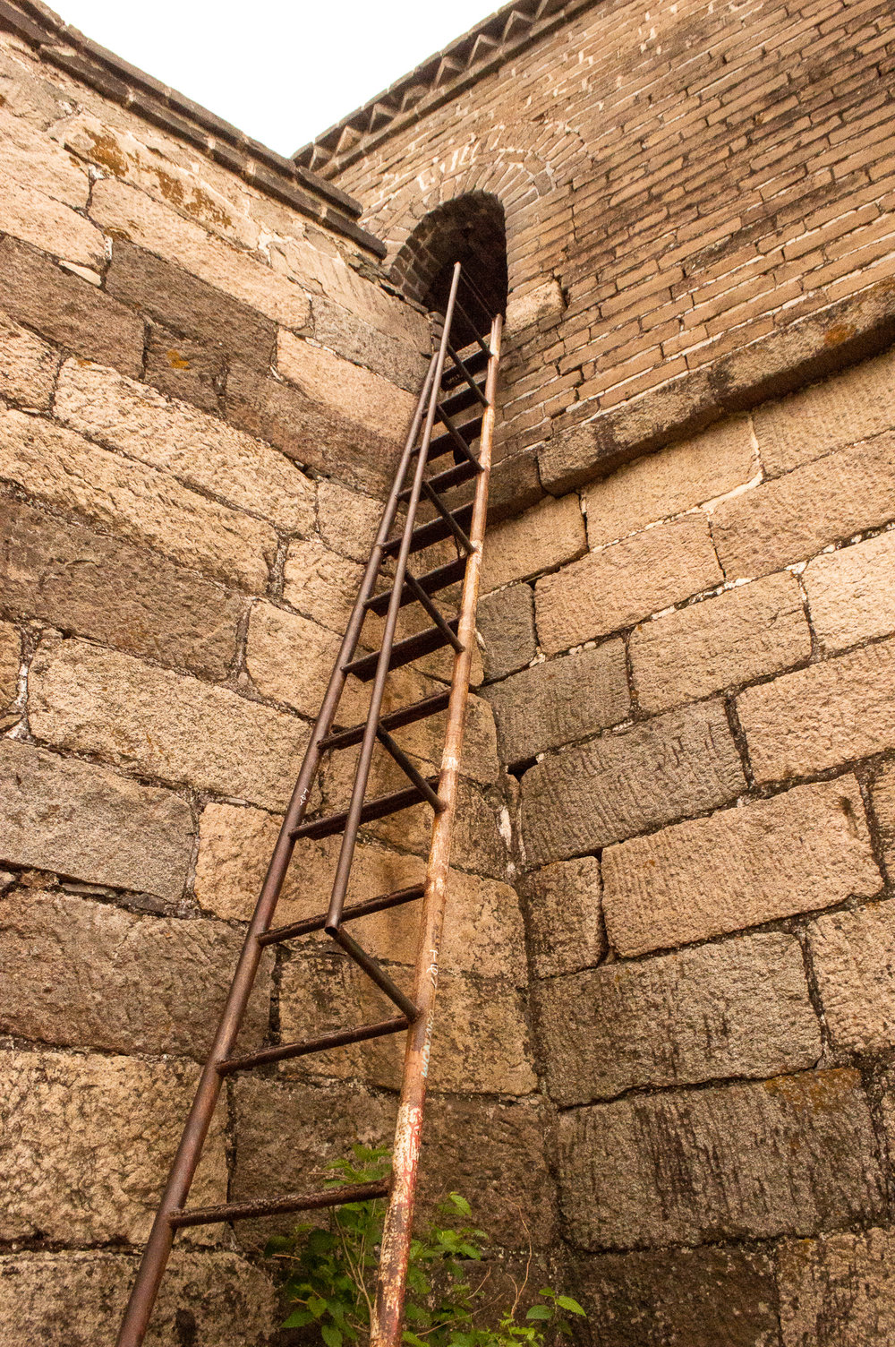 The entrance onto the wall is via this ladder only.