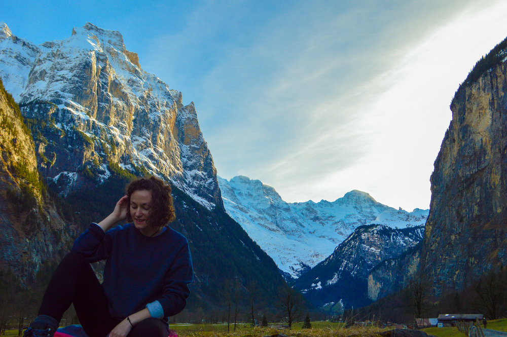 taking time out in Switzerland from my corporate job