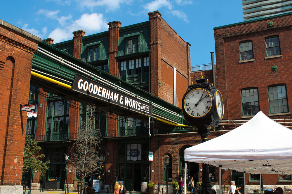 The renovated Distillery District in the east of the city