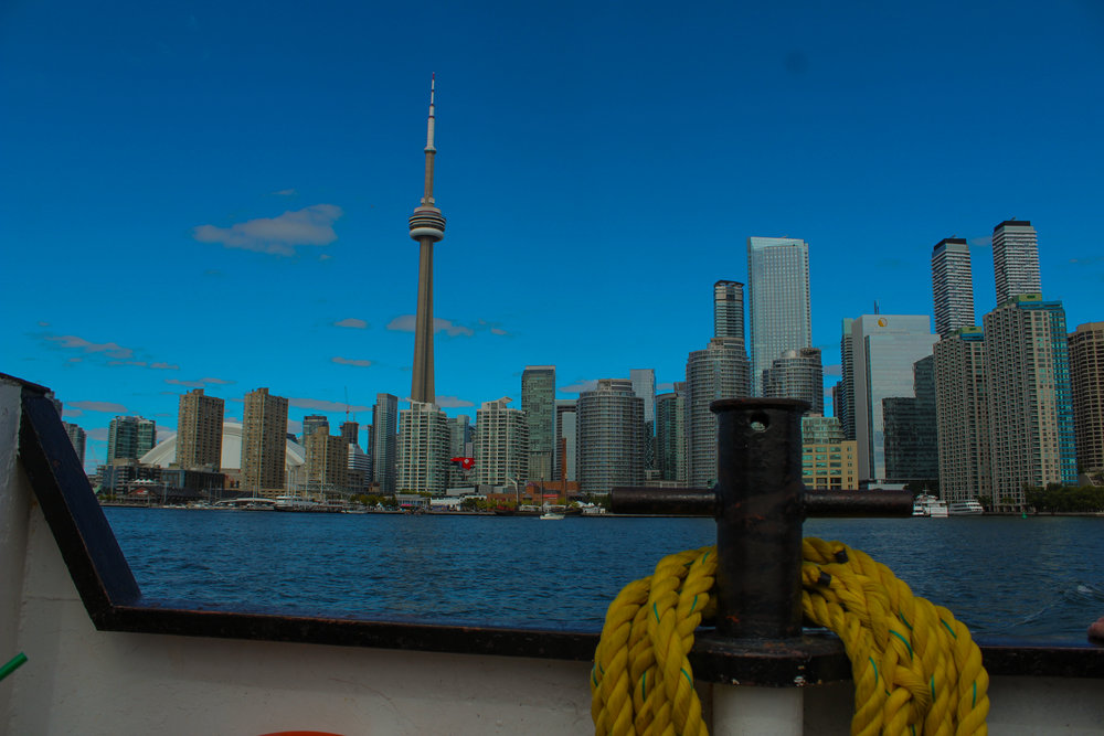 CN Tower from the ferry to Toronto Island